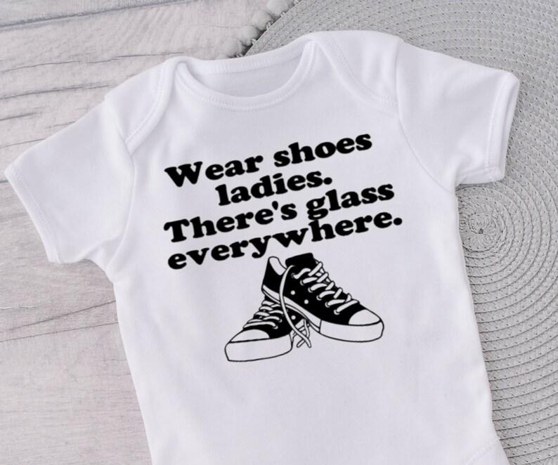 Wear shoes ladies kamala harris onesie there/'s glass everywhere baby onesie glass ceiling onesie