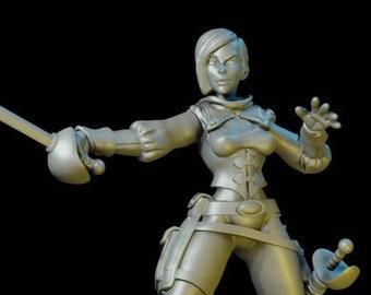 Human Female Duelist / Fencer - Rapier