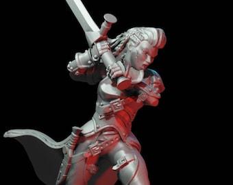 Human Female Fighter - Greatsword