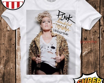 Pink P!nk Singer R/&B Pop Rock Evil T-shirt Vest Tank Top Men Women Unisex 162