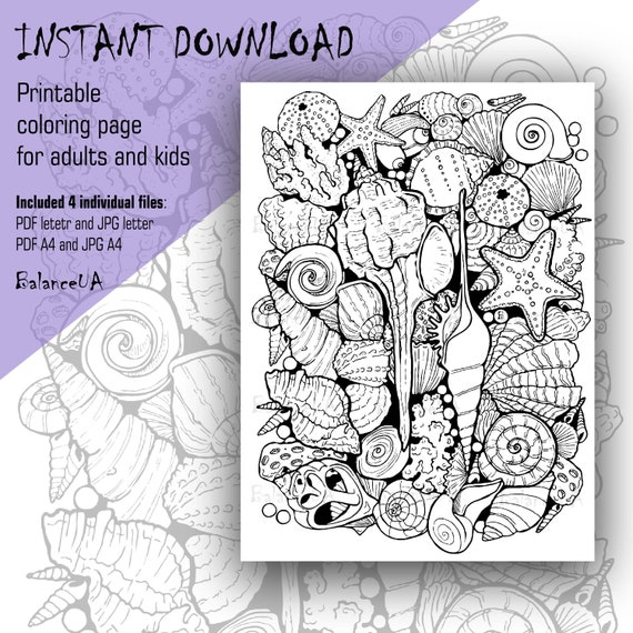 Printable Coloring Page Nautical coloring page 85 x 11 and