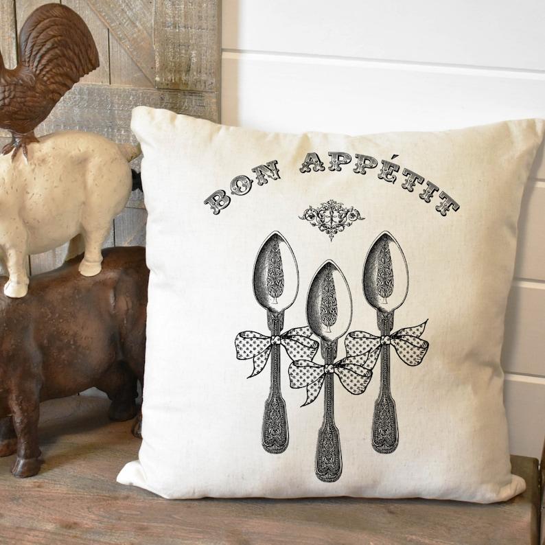 Summer Indoor Living Room Decor Outdoor Patio Design Farmhouse Country Pillow Cover Housewarming Gift Bon Appetit