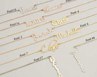 Personalised 18K Gold & 18K Rose Gold Plated Silver Sterling 925 Necklace / Mother's days gift / Valentine's Day Gift / Gift for Loves wife