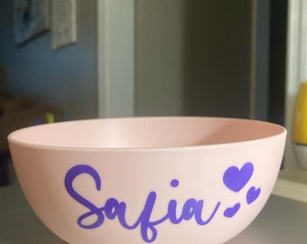Personalized Gift Made To Order Cereal Bowl For Kids Personalized Cereal Bowl Kids Bowl