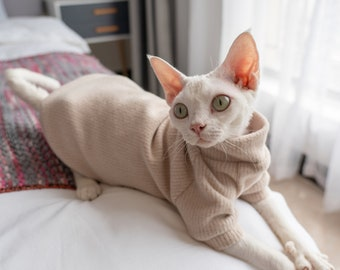 Cat Clothes Hairless Cat Clothes Sphynx Cat Clothes Minimalism Solid Color Cat Clothes Cat Sweater