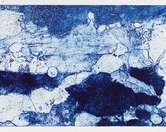 Rich in detail, original, handmade print: Composition no 1