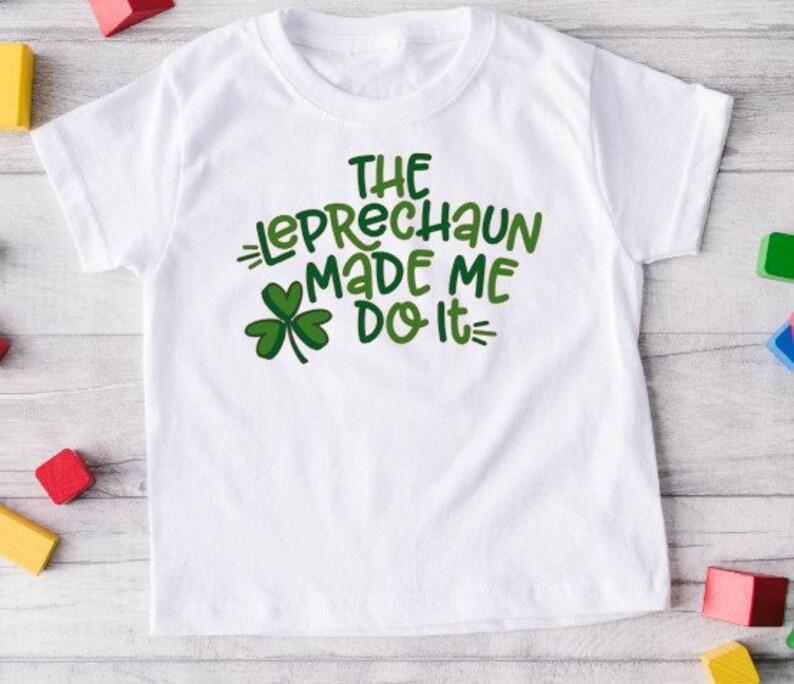 KIDS St Patrick/'s Day shirt Fun tshirt lucky shirt Funny tshirt Irish tshirt Leprechaun