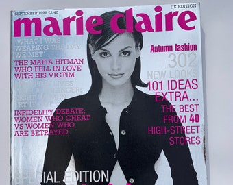 Marie Claire Magazine UK Vintage, September 1998, Special Edition 10th Birthday Issue Ines Sastre cover, Birthday Gift