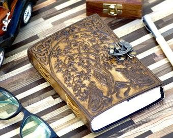 50% OFF Wolf Embossed Leather Journal Personal Organizer /Diary and Travel Companion (5 x 7 Charcoal Brown)
