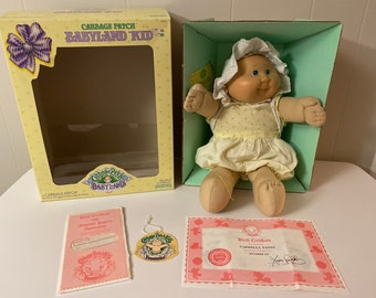 Pinafore Vintage 80s Cabbage Patch Kids Toddler Girls halter size 2t dress retro toys doll cpk cartoon book