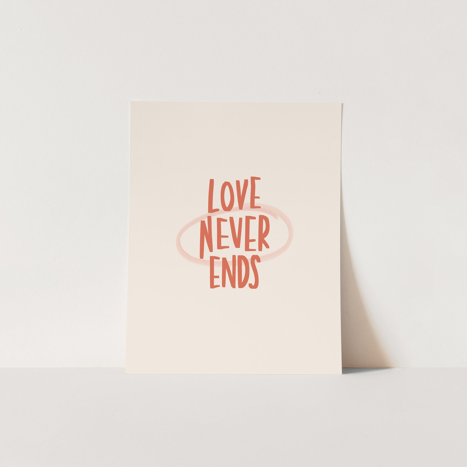 Liebe nie endet Christian Bibel druckbare Wandkunst | Etsy