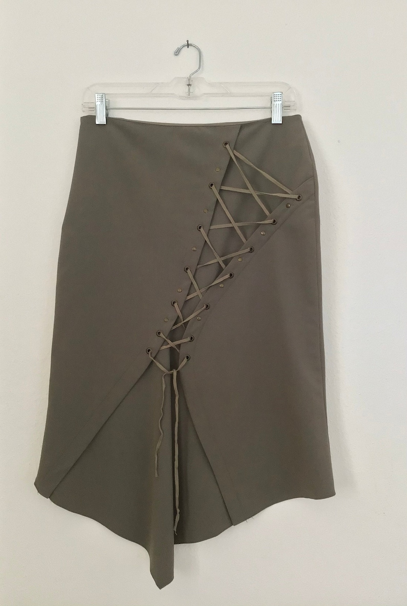 Vintage Y2K 1990s lace-up skirt made in France