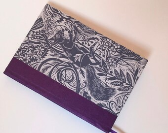 Squirrel Journal - A5 Layflat Notebook - Journal with Recycled Plain or Lined Paper - Handmade Journal - Handmade Notebook