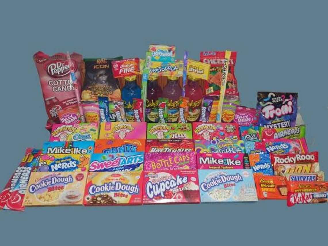 American Candy Mystery Box Hamper Wonka Nerds Airheads - Etsy