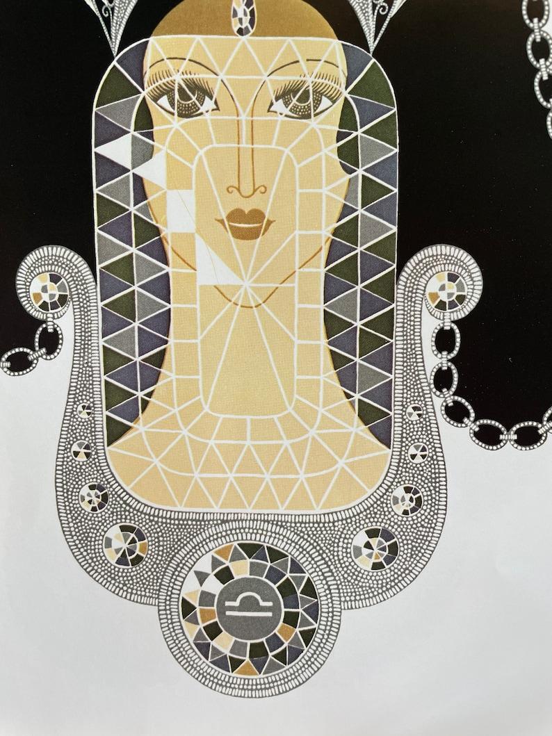\u201cAmethyst\u201d and \u201cdiamond\u201d 12 14 x 9 14 Art deco print on high-quality paper Erte print