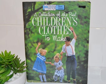 Childrens clothes to make / vintage book / womens weekly making book/ 1989 childrens clothes