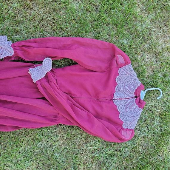 Vintage Victorian styled cottagecore dress - image 3