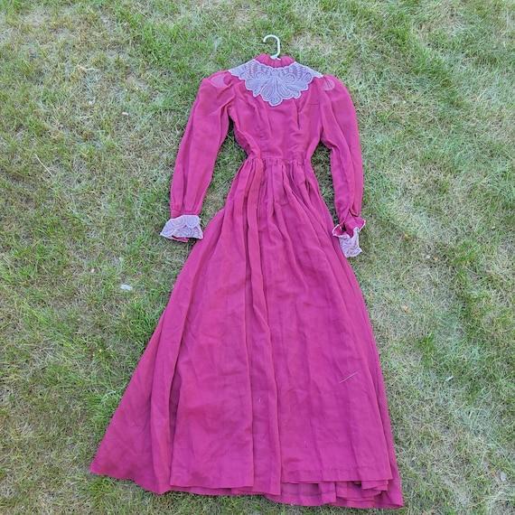 Vintage Victorian styled cottagecore dress - image 1