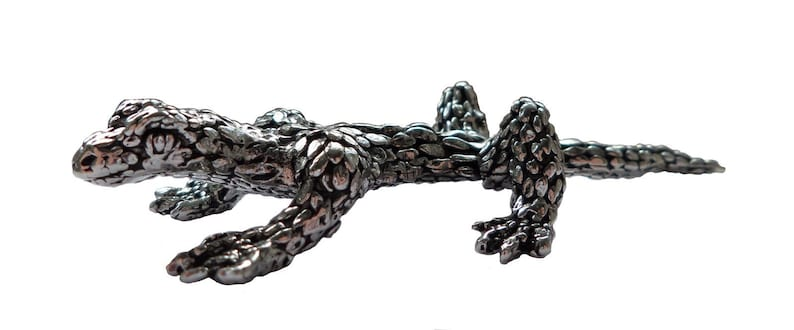 Lizard Solid Pewter Ornament Hand Made in Cornwall