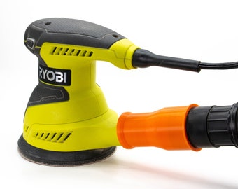 Ryobi Sander Vacuum Adapter - ShopVac/Ridgid/Festool/Craftsman  - Dust Collection for Ryobi Palm/Orbital Sanders