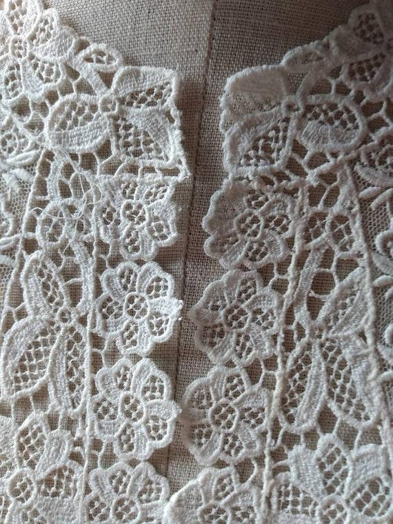 Edwardian Lace Wedding Collar - image 4