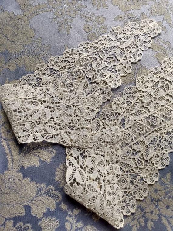 Edwardian Lace Wedding Collar - image 8