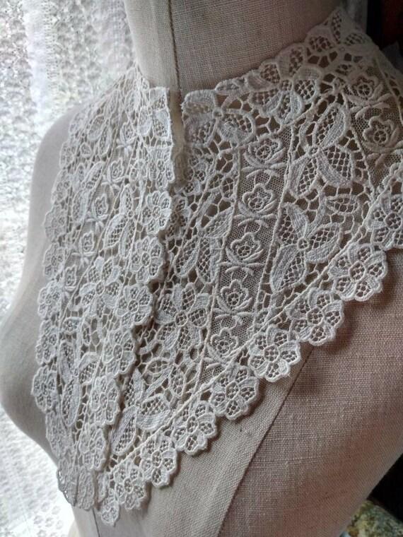 Edwardian Lace Wedding Collar - image 1