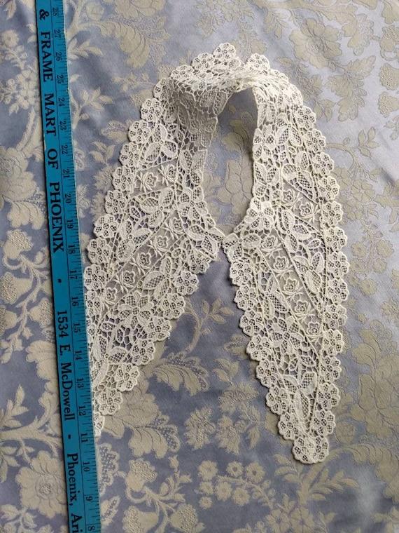 Edwardian Lace Wedding Collar - image 7