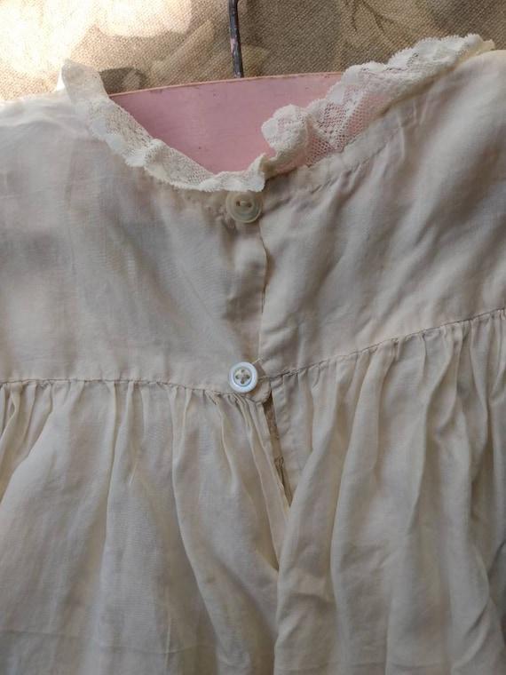 1920's Little Girl's Silk Dress & Bonnet - image 5