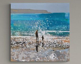 Daymer Bay Cornwall Painting, Original Painting, Buy Cornwall Art Online, Cornwall Art Gallery, Handpainted Fine Art by Melanie McDonald