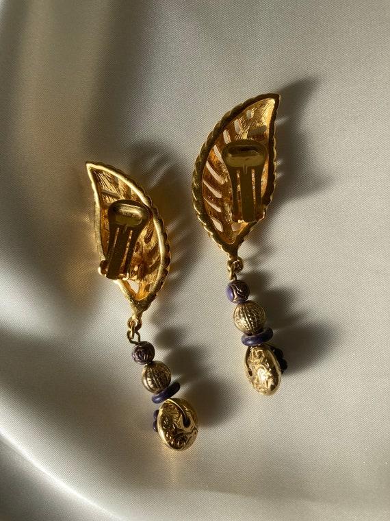 LANVIN vintage dangle earrings - image 3
