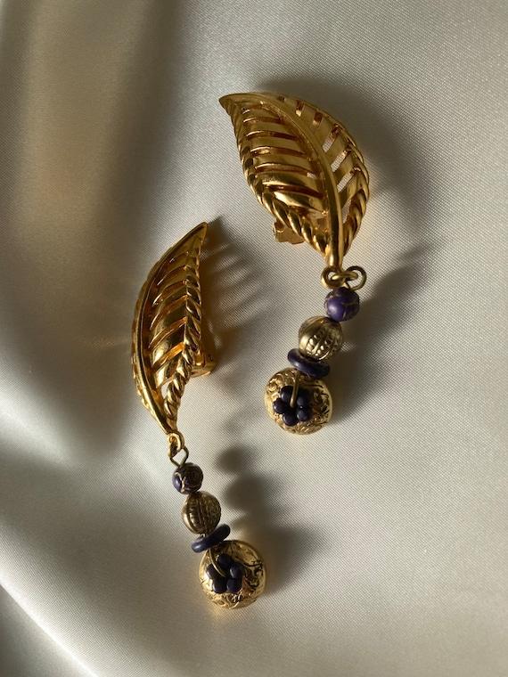 LANVIN vintage dangle earrings - image 2