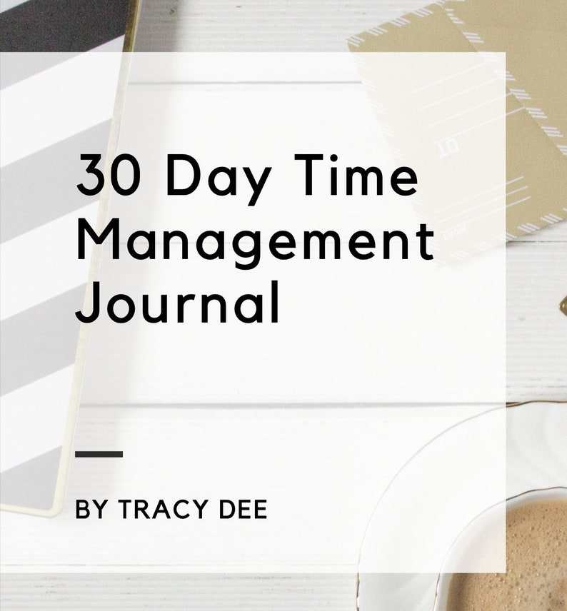 Digital PDF 30 Day Time Management Journal For Printing or Use image 0