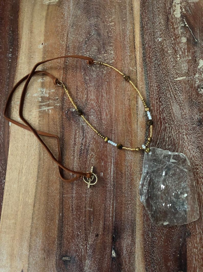 Large Quartz Necklace