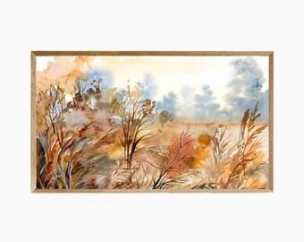 Frame TV Art Fall Vibes, Samsung Frame TV Art Watercolor, Frame tv Art Fall Foliage, Fall Art Frame tv, Fall Decor, Fall Watercolor Art