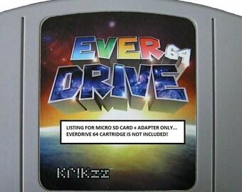 Nintendo 64 N64 NES - MicroSD Card + Adapter for EverDrive 64 -  L@@K!