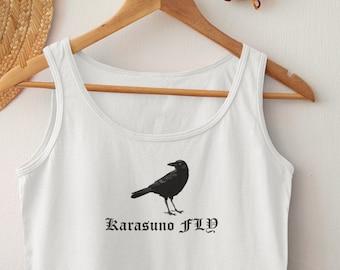 Karasuno Volleyball Club Anime Tank Top Gift Haikyuu Karasuno Tank Top Haikyuu Karasuno FLY Tank Top Karasuno Tank Top Karasuno School
