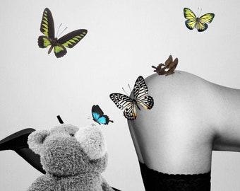 Emerged Bear   Signed by Kookyruby   A2 Format   Open edition