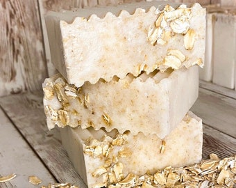 Gentle Oats Soap for Sensitive Skin | Self-Care | Organic Ingredients | Colloidal Oats | Eczema Soothing | Soap For Eczema | Vegan Soap