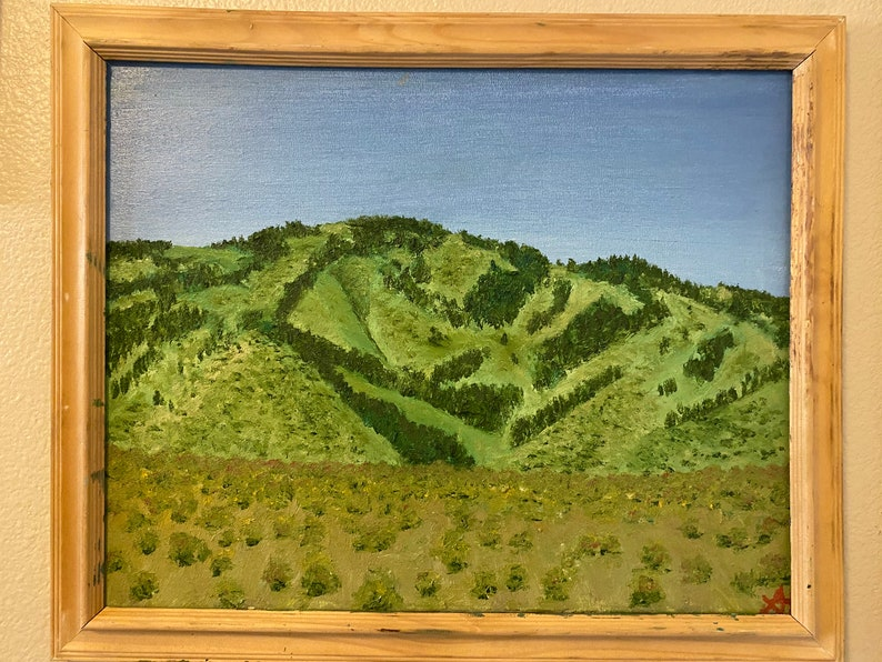 unframed Lone Mountain
