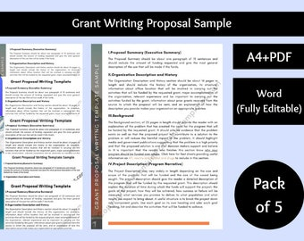 Grant Writing Proposal Sample [Pack of 5]