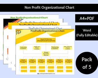 Non Profit Organizational Chart [Pack of 5]