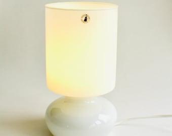 Vintage IKEA Lykta lamp, Vintage IKEA Lamp, glass lamp, handmade glass lamp, white glass lamp, vintage glass lamp, Lykta lamp, Vintage IKEA