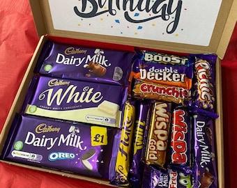 Cadbury Dairy Milk Chocolate Sweet Personalised Box Candy Hamper Orange Twirl Letterbox Treat Selection Gift Present Personalised Birthday