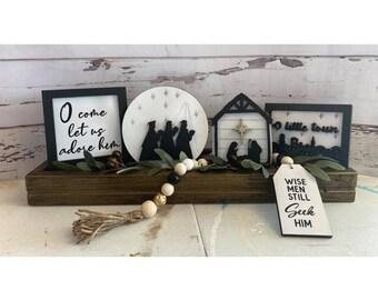 Nativity Tier Tray set