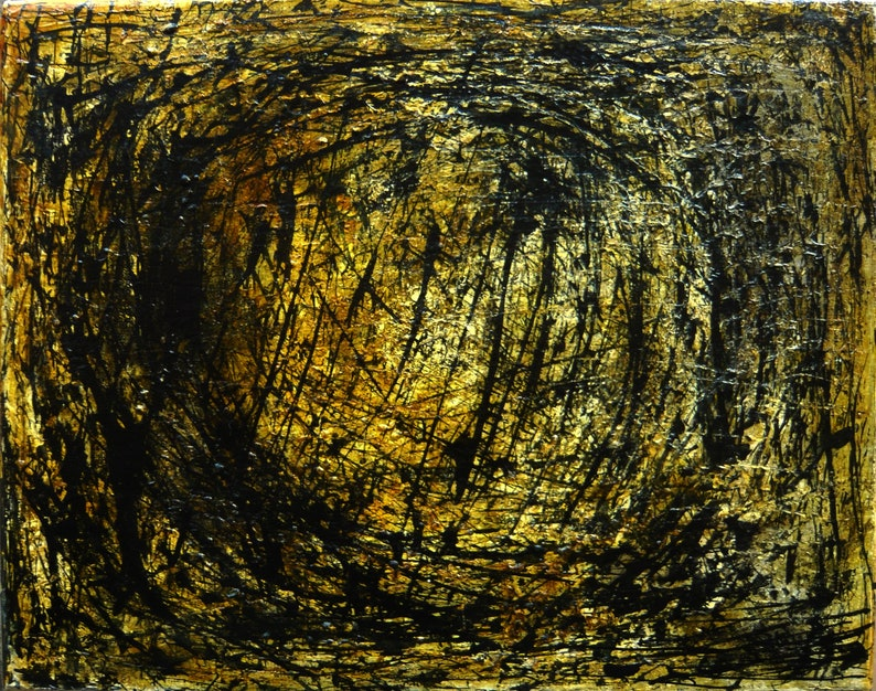 Contemporary painting Modern painting. Original painting by Gustau Donat From the Synapse series Expressionist painting