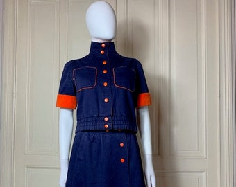 code:KAE Vintage Courreges Small Embroidery Jacket