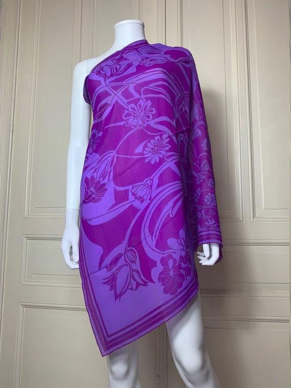1980s Vintage Purple Silk Top UK Size 10
