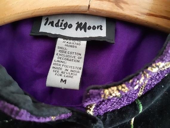 Indigo Moon women's jacket .vintage embroidery - image 5