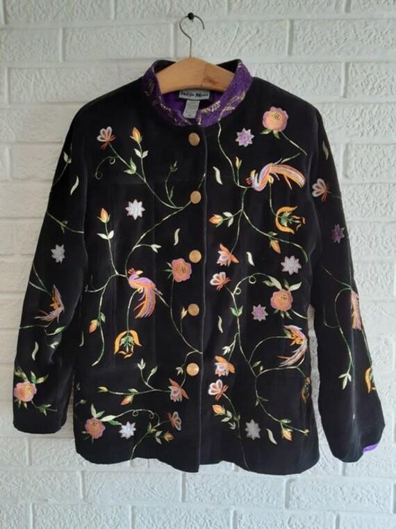 Indigo Moon women's jacket .vintage embroidery - image 3